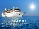 PowerPoint Template - large modern cruise ship. lots of free space for text.
