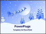 PowerPoint Template - Christmas balls and stars in a red background