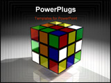 PowerPoint Template - A close up of a ruby cube just as its owner starts his path of domination over it.