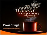PowerPoint Template - Cup of coffee with smoke over dark background
