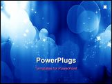 PowerPoint Template - Curtain with spotlights on a blue background