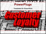 PowerPoint Template - Group of customer loyalty related words. Part of a business concept series.