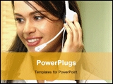 PowerPoint Template - an image of customer service operator