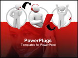 PowerPoint Template -  diagram of a successful support call in which a customer phones an agent and the problem is resolv