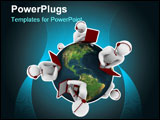 PowerPoint Template - everal customer service representatives positioned around the world focused on North American regio