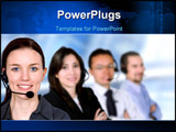 PowerPoint Template - business customer service team in an office environment