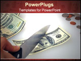 PowerPoint Template - cutting costs or cutting the budget
