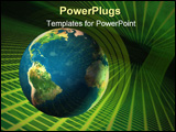 PowerPoint Template - planet earth travelling through cyberspace.