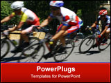 PowerPoint Template - cycling, racing, racers, bike, bicycle, sports, speed, riding, fast,
