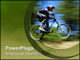 PowerPoint Template - pan blur of mountain bike racer