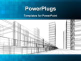PowerPoint Template - Abstract 3D construction of office building white background. Concept - modern city modern architecture and designing ** Note: Slight blurriness, best at smaller sizes
