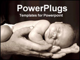 PowerPoint Template - two hands holding a child