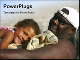 PowerPoint Template - a handsome African American man spends a special moment with his cute little girl.