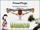 PowerPoint Template - The dancer and the DJ girl