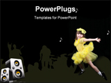 PowerPoint Template - young female toddler striking a dance pose for the camera