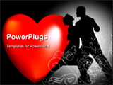 PowerPoint Template - Couple dancing illustration