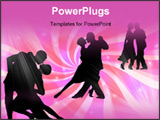 PowerPoint Template - Couples dancing a tango on a colorful background