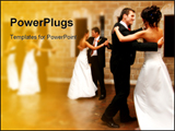 PowerPoint Template - A bride and groom opening the dance floor