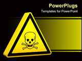 PowerPoint Template - Poison yellow sign on a white background. Part of a series.