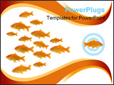 PowerPoint Template - dare to be different : one goldfish swimming