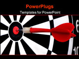PowerPoint Template - dart that hit the very center of a wooden board