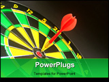 PowerPoint Template - a photo of a dart and dart board