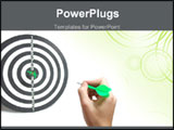 PowerPoint Template - playing darts and showing great skill