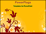PowerPoint Template - floral abstract background