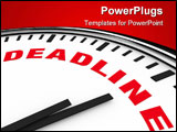 PowerPoint Template - White clock with the word Deadline on its face