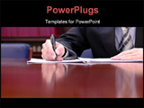 PowerPoint Template - usiness success expressions business meeting concept businessman at the meeting businessman is sign