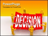 PowerPoint Template - 3d Render of men solving decision puzzle