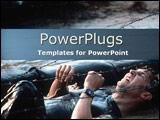 PowerPoint Template - Soldier mid-battle scene