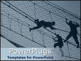PowerPoint Template - Training camp with silhouette of recruits