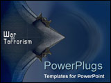 PowerPoint Template - War on Terrorism theme with strong navy tones and imagery