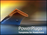PowerPoint Template - Imposing aircraft carrier awaits instructions