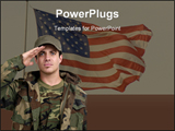 PowerPoint Template - A soldier Saluting