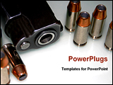 PowerPoint Template - the bullet and gun for security