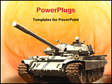 PowerPoint Template - Shot of a military tank from seventies