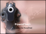 PowerPoint Template - self-defense woman with gun at gun point