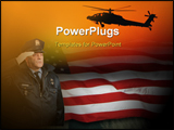 PowerPoint Template - abstract canvas textured army design with helicopter and American flag