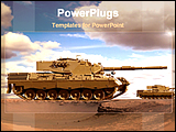 PowerPoint Template - desert tanks