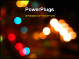 PowerPoint Template - ut of focus christmas decorative lights background - could also be used for non-christmas concepts
