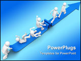 PowerPoint Template - 3d characters isolated on white background series