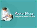 PowerPoint Template - Relaxed patient and friendly dentist