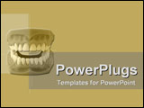 PowerPoint Template - Model of new dentures on tan
