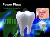 PowerPoint Template - Digital illustration of teeth in colour background