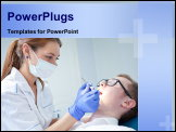 PowerPoint Template - dentist at work on woman patient in office