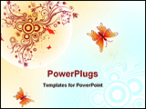 PowerPoint Template - Abstract floral chaos with butterfly element for design illustration