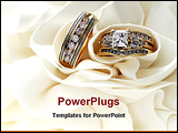 PowerPoint Template - Wedding bands with space for copy