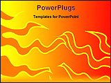 PowerPoint Template - a design of a abstract fire